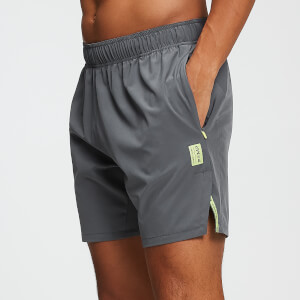 MP Training Heren Stretch Geweven 7 Inch Shorts - Carbon