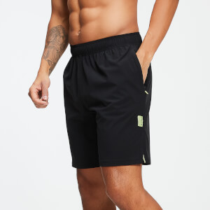 Training Stretch Woven 9 Inch Shorts - Black