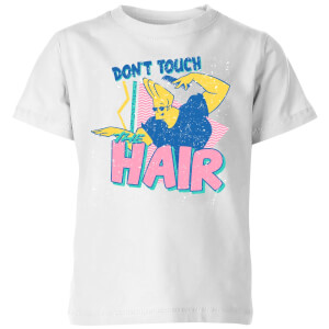 Cartoon Network Spin-Off Johnny Bravo Don't Touch The Hair Kids' T-Shirt - White