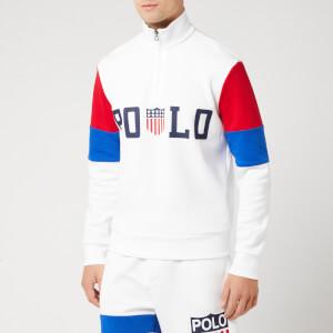 Polo Ralph Lauren Men's USA Half Zip Sweatshirt - White Multi