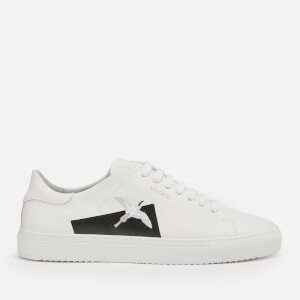Axel Arigato Men's Clean 90 Taped Bird Leather Cupsole Trainers - White/Black