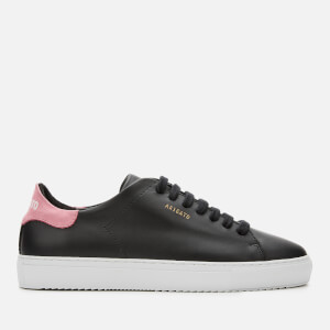 Axel Arigato Women's Clean 90 Leather Cupsole Trainers - Black/Pink