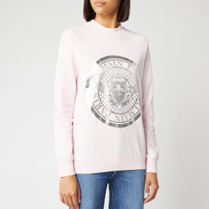 Balmain Women's Coin Sweatshirt - Rose