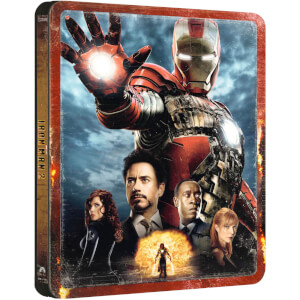 Iron Man 2 - 4K Ultra HD Zavvi Exklusives Steelbook