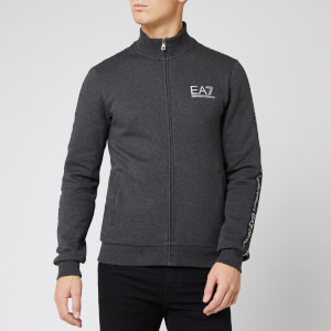 Emporio Armani EA7 Men's Track Jacket with Taping - Carbon Melange