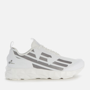 Emporio Armani EA7 Men's Chunky Eagle Trainers - White