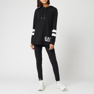 Emporio Armani EA7 Women's Hooded Longline Tracksuit With Leggings - White/Black