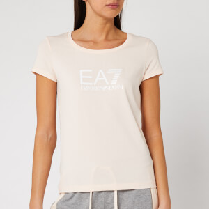 Emporio Armani EA7 Women's Basic Logo T-Shirt - Light Pink