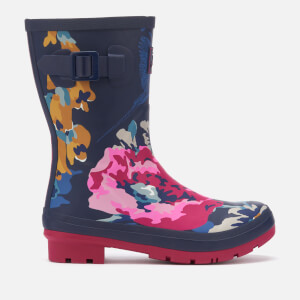 Joules Women's Molly Mid Height Printed Wellies - Anniversary Floral