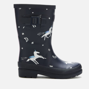 Joules Kids' Printed Wellies - Navy Unicorns