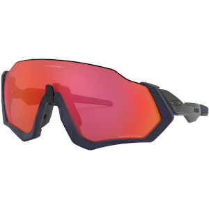 Oakley Flight Jacket Sunglasses - Matte Navy/Prizm Trail Torch