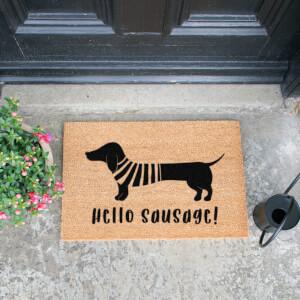 Hello Sausage Doormat