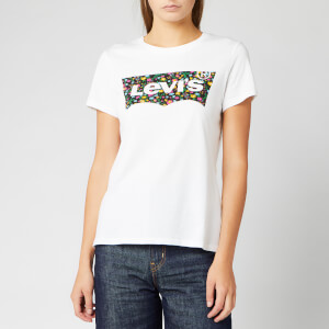 Levi's Women's The Perfect T-Shirt - Hsmk Dunsmuir Floral Fill White