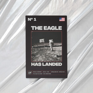NASA Apollo 11 The Eagle Has Landed Metal Print