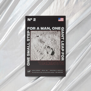 NASA Apollo 11 One Small Step Metal Print