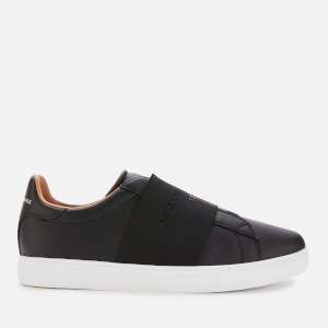 Armani Exchange Men's Leather Slip-On Low Top Trainers - Black/Black