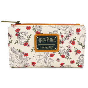Loungefly Harry Potter Creatures Floral Flap Wallet