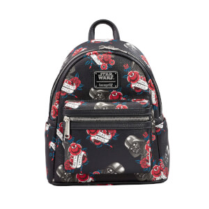 Loungefly Star Wars Black Rose Darth Vader Backpack
