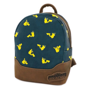 Loungefly Detective Pikachu AOP Mini Backpack