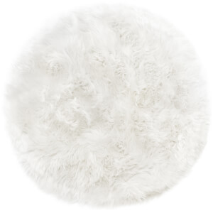 Royal Dream 100% Round Sheepskin Rug - Natural White