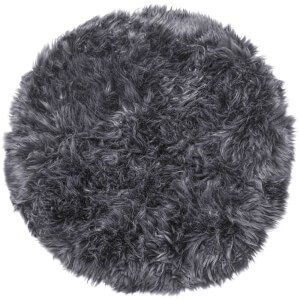 Royal Dream 100% Round Sheepskin Rug - Grey