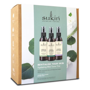 Sukin Revitalize Your Skin Hydrating Mist Toner Trio Pack (Worth £23.85)