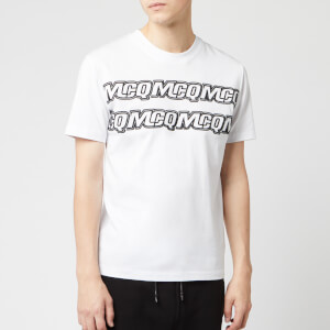 McQ Alexander McQueen Men's Hyper McQ Repeat T-Shirt - Optic White