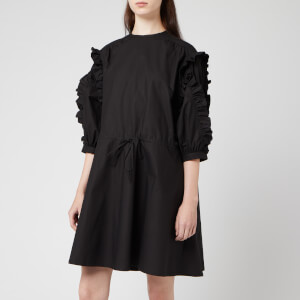 JW Anderson Women's Cotton Frilled Dress - Black