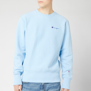 Champion Men's Small Script Sweatshirt - Pale Blue