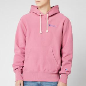 Champion Men's Small Script Hooded Sweatshirt - Pink
