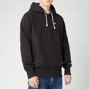 Champion Men's Big Script Hood Logo Sweatshirt - Black