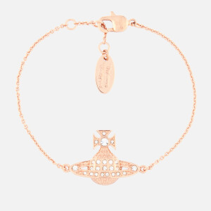 Vivienne Westwood Women's Minnie Bas Relief Bracelet - Crystal/Rose Gold