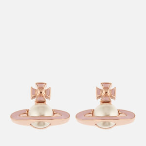 Vivienne Westwood Women's Iris Bas Relief Earrings - Pink Gold Pearl Pale Pink