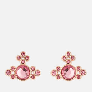 Vivienne Westwood Women's Brucella Bas Relief Earrings - Pink Gold Rose