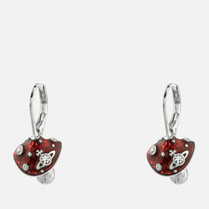 Vivienne Westwood Women's Orla Drop Earrings - Rhodium Crystal Red