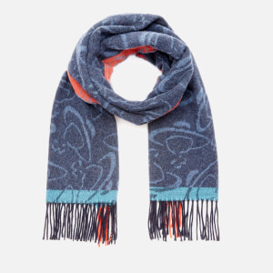 Vivienne Westwood Women's Winter Orb Scarf - Navy Blue