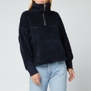 Levi's Women's Made and Crafted Sherpa Track Popover - Navy Peony