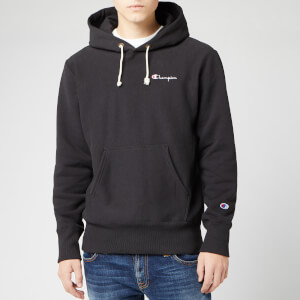 Champion Men's Small Script Hooded Sweatshirt - Black