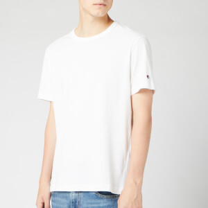 Champion Men's Sleeve Logo Crew Neck T-Shirt - White