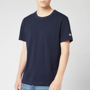 Champion Men's Sleeve Logo Crew Neck T-Shirt - Navy
