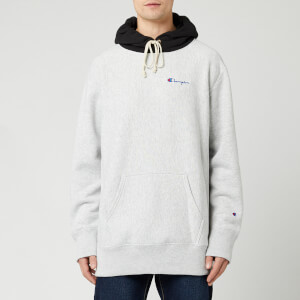 Champion Men's Colour Block Hoody - Grey