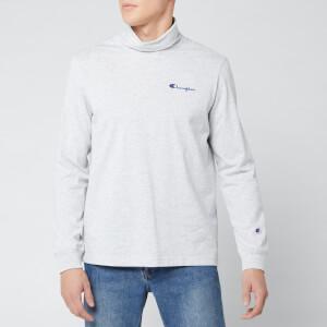 Champion Men's High Neck Long Sleeve T-Shirt - Grey