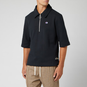 Champion X Clothsurgeon Men's Half Zip Polo Shirt - Black