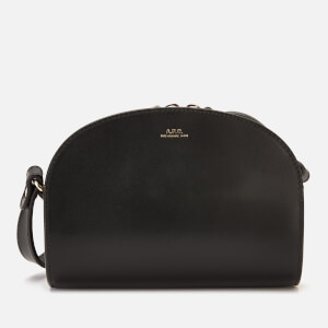 A.P.C. Women's Mini Demi-Lune Cross Body Bag - Black