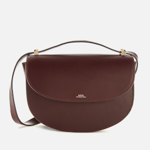 A.P.C. Women's Geneve Cross Body Bag - Burgundy