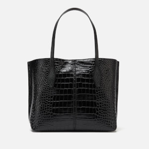 Tod's Women's Croc Joy Shopping Tote Bag - Black