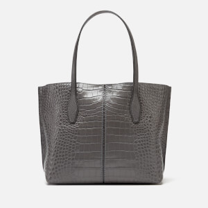 Tod's Women's Croc Joy Shopping Tote Bag - Grey