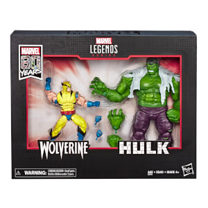 Hasbro Marvel Legends Series 80th Anniversary Hulk and Wolverine Action Figure