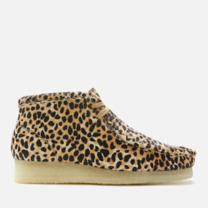 Clarks Originals Women's Wallabee Boots - Brown Animal Print