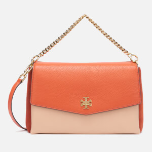 Tory Burch Women's Kira Color-Block Shoulder Bag - Lava/Devon Sand/Fox